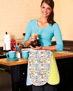 Get a FREE pattern to make this cute apron and check out more FREEBIES from the new Sew It All Volume 7!