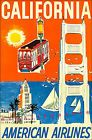 California 1960 American Airlines Vintage Poster Art Print Retro Travel 11x17  $18.61  ebay.de