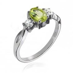 Stříbrný prsten AGLAIA s pravým olivínem - peridotem Engagement Rings, Jewelry, Rings For Engagement, Wedding Rings, Jewlery, Jewels, Commitment Rings, Anillo De Compromiso, Jewerly