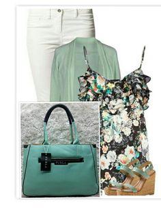 Cartera furla verde menta Furla, Trends, Polyvore, Image, Fashion, Mint Green, Moda, Fashion Styles, Fashion Illustrations
