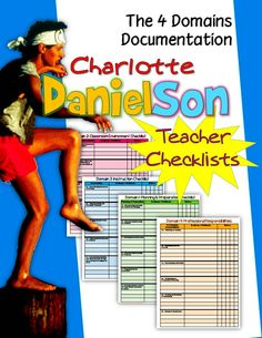 Charlotte Danielson Teacher Checklists: Documenting the Four Domains Includes: 4 PAGES -Danielson Framework- checklist for each of the 4 domains . Professional Learning Communities, Professional Development For Teachers, Portfolio Professional, Teaching Methods, Teaching Resources, Charlotte Danielson, Danielson Framework, Teacher Observation, Teacher Checklist