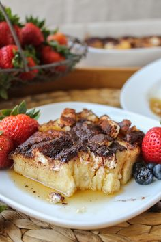 Cream Cheese French Toast Casserole from The Food Charlatan // So easy! Perfect for the holidays.