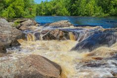 Little Falls, Flambeau River State Forest, WI II by Andy Kulis on Capture Wisconsin // Northern Wisconsin, on the Flambeau River.
