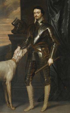 Sir Anthony van Dyck - Portrait of Thomas Wentworth, Earl of Strafford Anthony Van Dyck, Sir Anthony, Renaissance Portraits, A4 Poster, Art Images, Dark Fantasy, Art Reproductions, Photo Wall Art, Fine Art