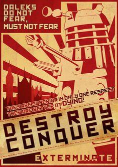 Dalek war propaganda poster