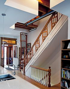 Such visually interesting railing on this staircase. I grew up with this type of staircase