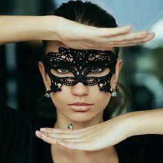 Dollar Shipping Masquerade Mask Black or White by HigginsCreek