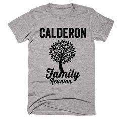 CALDERON Family Name Reunion Gathering Surname T-Shirt