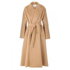Max Mara Camel Coat, 1,030 ❤ liked on Polyvore featuring coats, jackets and outerwear