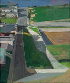 Richard Diebenkorn, Cityscape Oil on canvas.San Francisco Museum of Modern Art. Purchase with funds from Trustees and friends in memory of Hector Escobosa, Brayton Wilbur, and J. Image: 2014 The Richard Diebenkorn Foundation Richard Diebenkorn, Urban Landscape, Landscape Art, Landscape Paintings, Landscape Drawings, Contemporary Landscape, Acrylic Paintings, Contemporary Paintings, Landscape Design