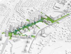 a | 911 y Sasaki seleccionados para el desarrollo de Cerro Norte, el Plan Maestro de un distrito de usos mixtos con el uso de estrategias sustentables en una de las ciudades mexicanas con más rápido crecimiento.