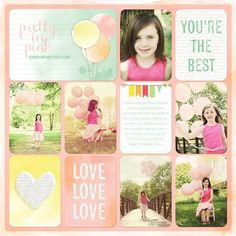 scrapbooking layout | Birthday scrapbooking ideas for kids