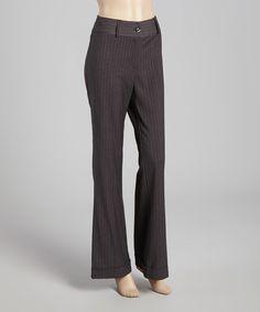 Gray Pinstripe Trouser Pants #zulily #zulilyfinds