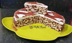 Tort de biscuiti reteta simpla - Retete Culinare cu Gina Bradea Cacao Beans, Biscuit, Cake, Desserts, Food, Tailgate Desserts, Deserts, Kuchen, Essen