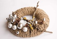 Christmas wreath - Advent wreath - candle ring - winter wreath. $38.00, via Etsy.
