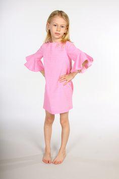 Pink flounce dress | Natty