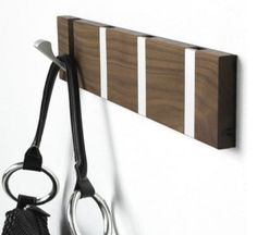 CA Modern Home has a variety of coat hooks available on their website. The various selections include many unique coat hooks, wall hooks, and clothes racks. Furniture For You, Furniture Design, Home Organisation Tips, Wall Racks, Wall Storage, Wall Hanger, Coat Hanger, Reno, Walnut Wood
