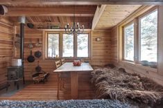 Living in a shoebox | This 118 ft2 small Norwegian ski cabin comfortably accommodates a family of four.