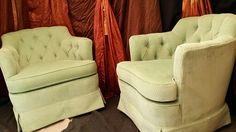 Vintage Woodmark Originals Tufted Club Chairs / $500 pair