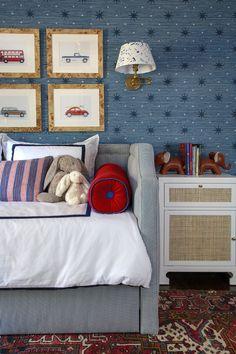 Big Boy Bedrooms, Girls Bedroom, Boy Rooms, Kids Rooms, Car Bedroom, Childs Bedroom, Next Bedroom, Erin Gates, Of Wallpaper