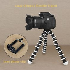Large Octopus Flexible Tripod Stand for Camera  Phone Holder Digital Canon Nikon #UnbrandedGeneric