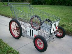 Boom..even grocery cart is custom. Nice downhill racer.