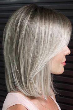 Shoulder Length Lob With Layered Front ❤. Shoulder Length Lob With Layered Front ❤️ Try one of these funky medium length hairstyles for thick hair. Thicker hair can be a pain to style, but with the right cut you can look like Medium Long Hair, Medium Hair Styles, Curly Hair Styles, Medium Bob With Layers, Hairstyles With Bangs, Straight Hairstyles, Thick Hair Hairstyles Medium, Haircuts For Medium Length Hair With Bangs, Bob Hairstyles For Thick Hair