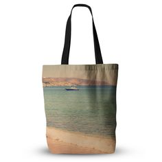 "Violet Hudson ""Drifting By"" Teal Brown Everything Tote Bag"