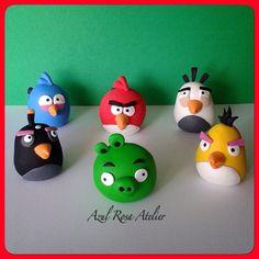 Angry Birds. Masa Flexible. Porcelana Fria. @azulrosa_atelier