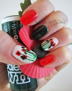 Pinkglow's Pretty Polish - Remembrance Day Poppy Nail Art
