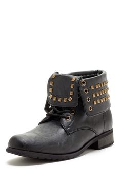 Carrini  Studded Cuff Military Boot  $32.00