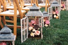 Floral lantern vintage inspired row markers.