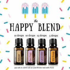Happy blend — rollerball recipe