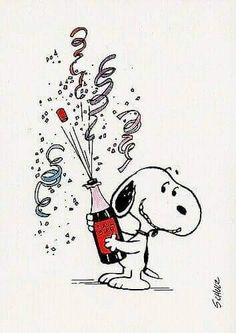 Silvester - Snoopy & Co. Snoopy Feliz, Snoopy Et Woodstock, Happy Snoopy, Images Snoopy, Snoopy Pictures, Funny Happy Birthday Wishes, Birthday Greetings, Funny Birthday, Happy Birthday Snoopy Images