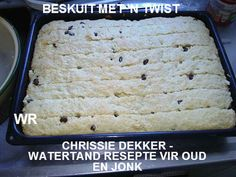 beskuit met n twist Recipes With Yeast, My Recipes, Cooking Recipes, Bread Recipes, South African Dishes, South African Recipes, Rusk Recipe, All Bran, Cinnamon Powder