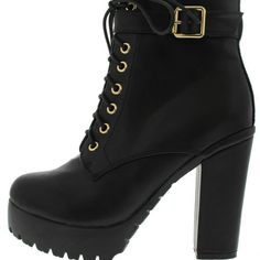 BRAND NEW Seattle2 lace up combat boots!! NWT Add some height to your look with these gorgeous black, Seattle2, lace up combat boots! 4 1/2 inch heal and platform height is 1 inch! Brand new in box, never worn or removed from box! I HAVE 2 AVAILABLE! One size 7 1/2 and one size 9! Let me know which you would like and I will make a separate listing for you! Seattle2 Shoes