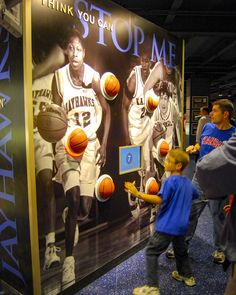 DI was brought on to detail and fabricate a reaction-time, vertical jump, broadcast interactive, as well as additional technology-based displays. Basketball Players, Activity Games, Activities, Kansas Jayhawks Basketball, Proper Running Technique, High Tech Gadgets, Kids Zone, Kids Playing, Games