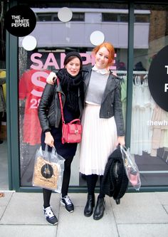 Street Style at TWP Sample Sale in our Haggerston Studio! www.thewhitepepper.com