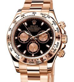 Rolex Oyster Perpetual Cosmograph Daytona in Everose gold.