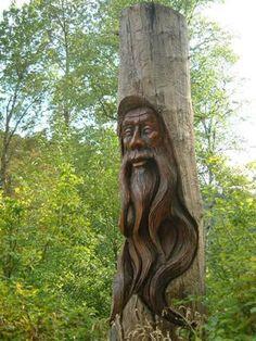 Wood Tree Spirit | Pete Ryan .... the Wood Carver