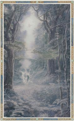 Luthien dancing in the shadows of twilight by Alan Lee Alan Lee, Tolkien Books, Jrr Tolkien, Middle Earth Books, Alchemy Art, Luthien, Principles Of Art, Fanart, Illustrations