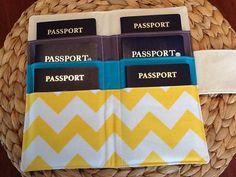 Family Passport Holder - Six 6 Passports - Travel Wallet - Passport Cover - Family Vacation - International Travel