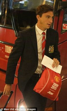 Matteo Darmian looked relaxed as they entered the hotel in Chicago...