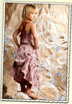 Paper Wings Red Horse Garland Maxi Dress Size 5 - The Crooked Little Path