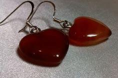 Heart Shaped Semi-Precious Fire Agate Gemstone by EliDavidDesign
