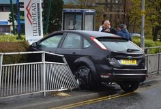 This Is Bradford - Local News Blog: Driver of stolen car runs from scene after crashing through railings in Bradford