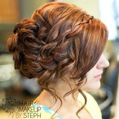 Waterfall braid side updo! So pretty by LavenderM