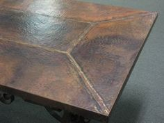 rectangular copper top tables - Copper Kitchen Table
