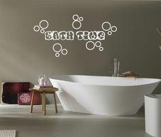 WALL VINYL STICKER DECALS Inspirational Quote Bath Time Soap Bubbles A1585 #MuralArtDecals