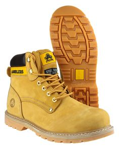 Amblers Safety FS164 lace up safety boots. Full grain crazy horse ...